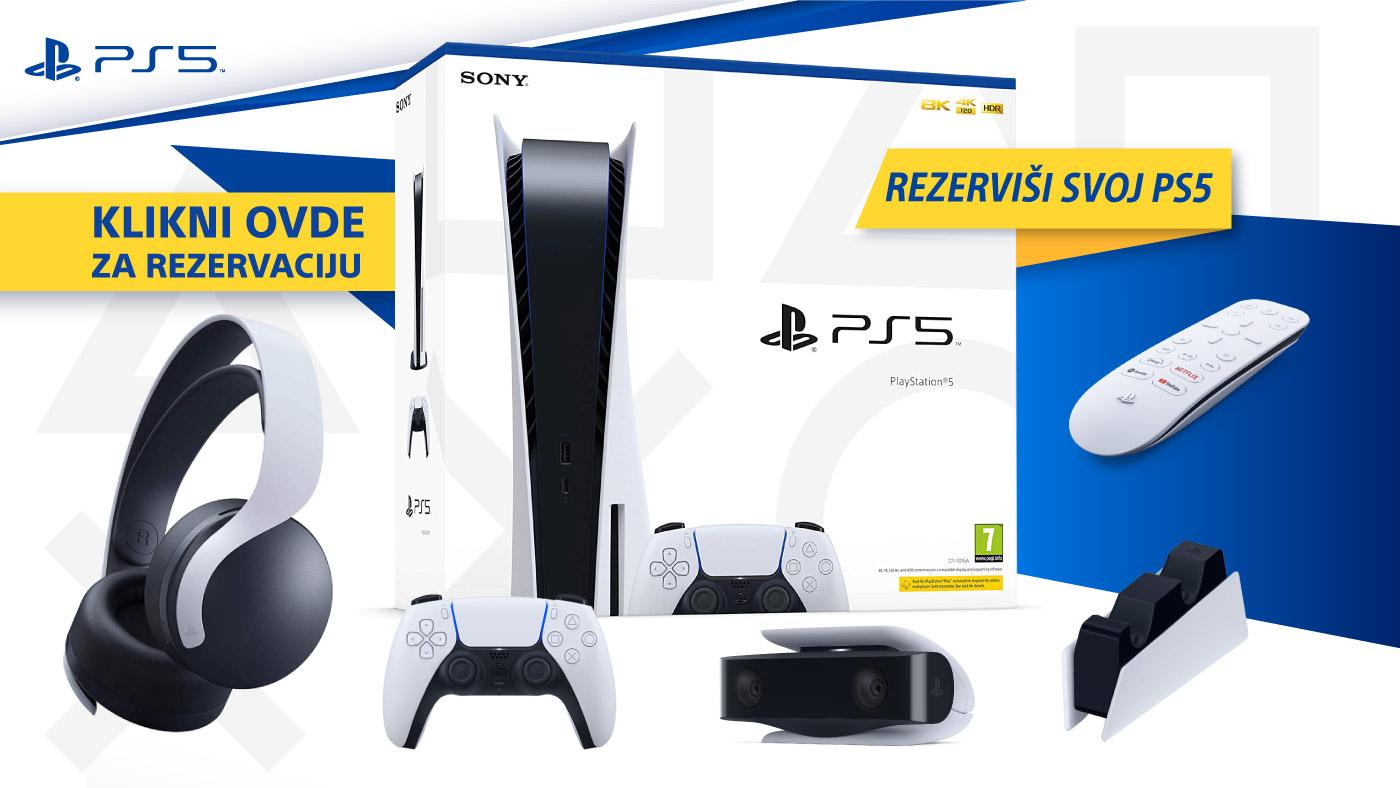 Rezerviši svoju PS5 konzolu